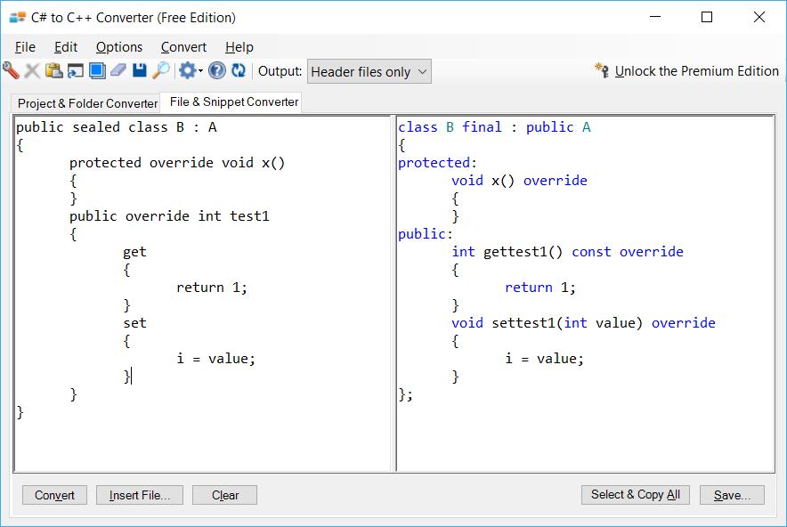 C# to C++ Converter